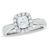 Consort Diamond Cushion-Cut Framed Engagement Ring