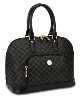 RIONI Signature Black Dome Handle Bag STB-20001