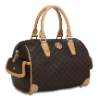 RIONI Signature Brown Small Boston Bag ST-20007