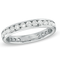 Courtier Diamond Channel-Set Eternity Wedding Band