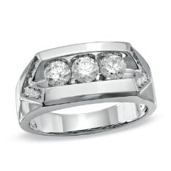 Gallant Diamond 3-Stone Men's Band