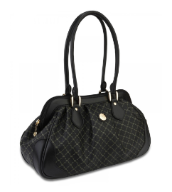RIONI Signature Black Shoulder Satchel STB-20035