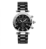 Men's Silver/Black Ceramic Watch