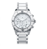 Men's Silver/White Ceramic Watch