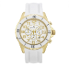 Men's White/Gold Ceramic Watch