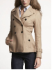 Pleat-Back Wool-Blend Peacoat