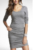 Rouched Scoop Neck Dress