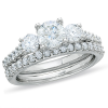 Radiance Diamond 3-Stone Bridal Set