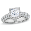 Regal Diamond Framed Princess-Cut Engagement Ring