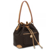 RIONI Signature Brown Shoulder Drawstring Bag ST-20089