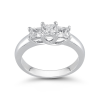 Sovereign Princess-Cut Diamond 3-Stone Band