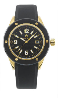 Women's Gold/Black Ceramic Watch