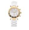 Women's Rose Gold/White Ceramic Watch