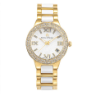 Women's Gold/White Ceramic Watch