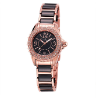 Women's Rose Gold/Black Ceramic Watch