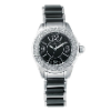 Women's Silver/Black Ceramic Watch