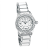 Women's Silver/White Ceramic Watch