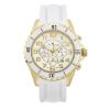 Women's White/Gold Ceramic Watch