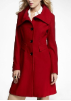 Wool Blend Long Fit  and Flare Coat
